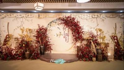古色优雅且温馨从容的新中式婚礼