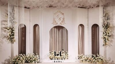 一场高级感十足的简约风白绿色系婚礼