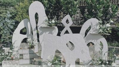 舍弃繁华堆砌的抽象艺术极简风婚礼