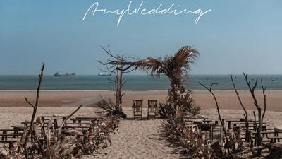 由海边自然元素造就的一场沙滩婚礼