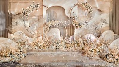 高贵优雅的轻奢质感香槟色系婚礼