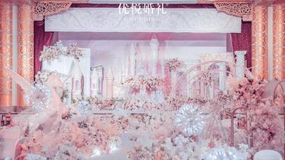 唯美梦幻的少女粉色系城堡主题婚礼