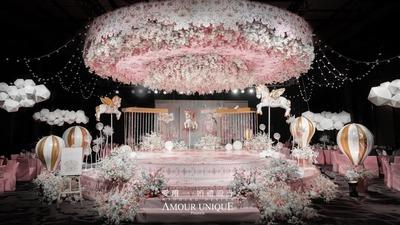 甜而不腻的梦幻少女粉色系童话主题婚礼