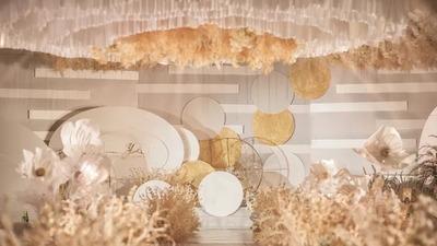 温柔典雅又时尚个性的香槟色系婚礼