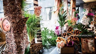 充满野性和个性的豹纹主题宝宝宴
