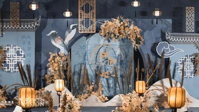 既淡雅别致又脱俗柔美的新中式婚礼