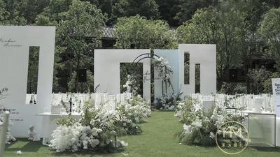 白绿色系小清新户外婚礼