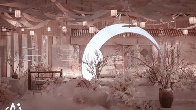 一场以雪为主题呈现出江南雅致的新中式婚礼