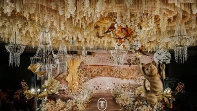 优雅中流露出浪漫艺术气息的香槟金色系婚礼