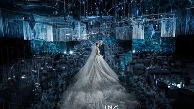 梦幻与浪漫并存的蓝色系星空主题婚礼