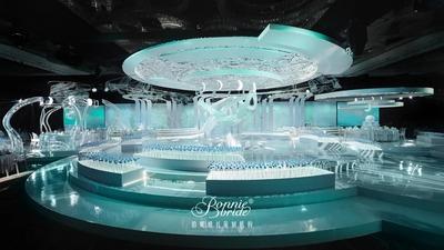 以星空为空间设计的核心,一场超越现实的高科技浸入式婚礼