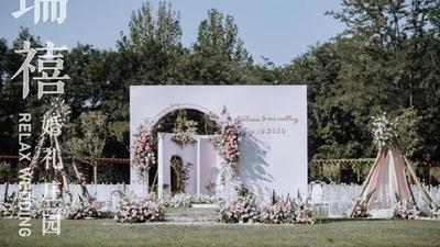 清新自然又有氛围感的粉色系户外婚礼