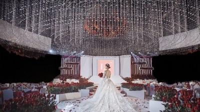 红白色系简约高级感婚礼
