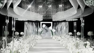 时尚感银白色系婚礼
