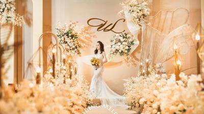 自带的简约高级感的香槟色系轻奢风婚礼
