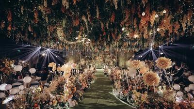 清新而又温暖的橙黄色+绿色系森系婚礼