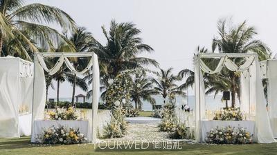 清新自然感户外婚礼