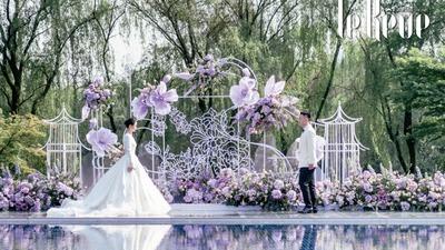 当优雅国风与西式浪漫相遇,一场呈现出别致美感的婚礼