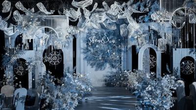 雾霾蓝色系婚礼