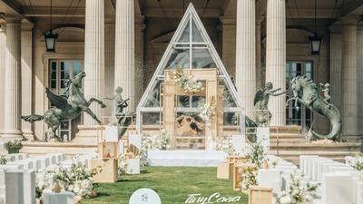 法式风格玻璃教堂婚礼