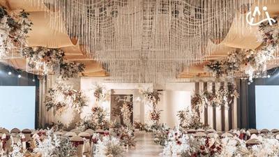 有着艺术美感与优雅格调的暖色系韩式婚礼