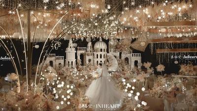 营造出静谧浪漫氛围感的童话城堡主题婚礼