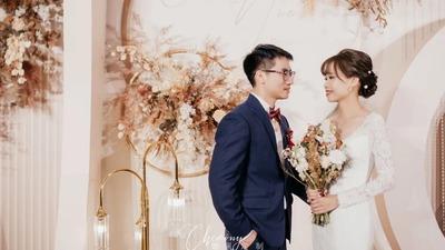 散发出浓郁复古高级感的秋色系婚礼