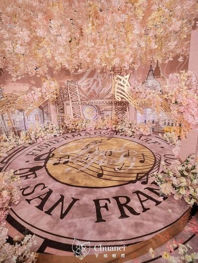 轻奢浪漫风珊瑚粉色系婚礼