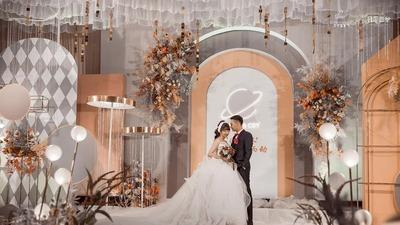 既温柔明媚又浪漫优雅的秋橘色+高级灰色系婚礼