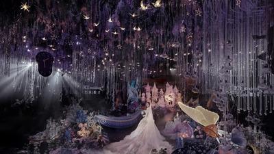带给宾客沉浸式体验的爱丽丝奇幻梦境森系婚礼