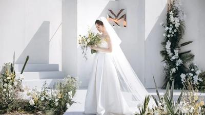 清新自然又淡雅温柔白绿色系户外婚礼