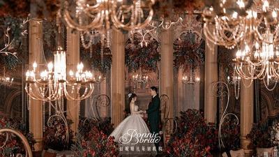 复古华丽又典雅的欧式巴洛克红金色系婚礼