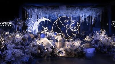 神秘而浪漫的蓝色+白色系熊猫主题梦幻婚礼