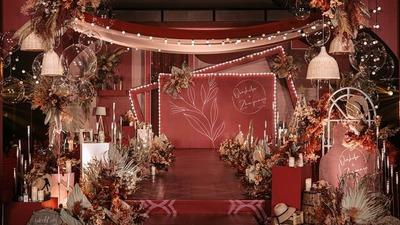 复古红秋色系婚礼