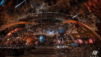 以宇宙大爆炸为设计灵感浩瀚无垠的星球主题婚礼
