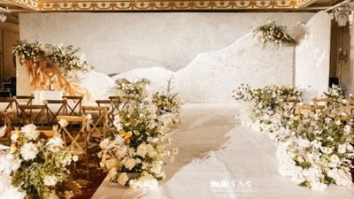 在细微处彰显岁月沉淀之美的侘寂风婚礼