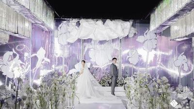 紫色+白色系鸢尾花主题婚礼