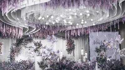 紫色+白色系轻奢风婚礼
