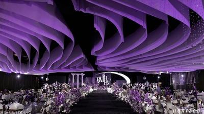 柔和优雅并具有艺术美感的紫色+白色系婚礼