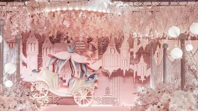 温馨又可爱的粉色系迪士尼梦幻乐园主题宝宝宴