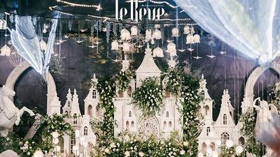 恢弘大气且浪漫梦幻的城堡主题森系婚礼