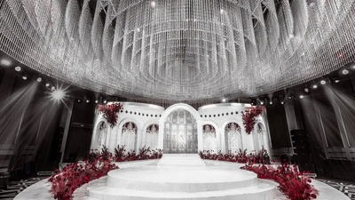 用极简的曲线线条,带来一场打破常规的新概念设计婚礼