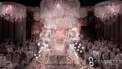既繁复华丽又优雅得体的粉色系穆夏风格婚礼