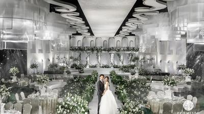 唯美中透露着清新奢华的法式庄园风婚礼