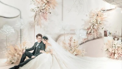 轻奢梦幻风香槟色系婚礼