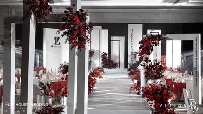 极简和浪漫完美共存的高级感白色+红色系婚礼