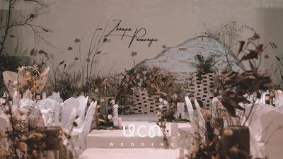 回归自然本身凸显气氛美学的侘寂风婚礼