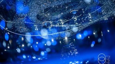 营造出流动星河的蓝色系星空主题婚礼