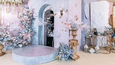 唯美浪漫的蓝色+粉色系婚礼