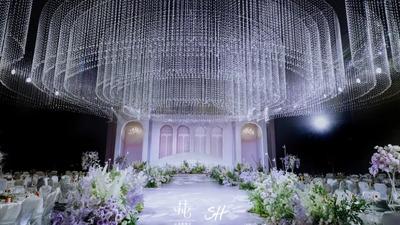 将神秘和梦幻揉于一体,打造一场轻法式花园的水晶婚礼